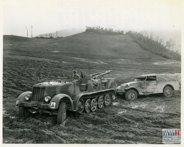6th South Africa Armored Division use captured German half track to recover disabled vehicles in Italy on 24 November 1944.jpg
