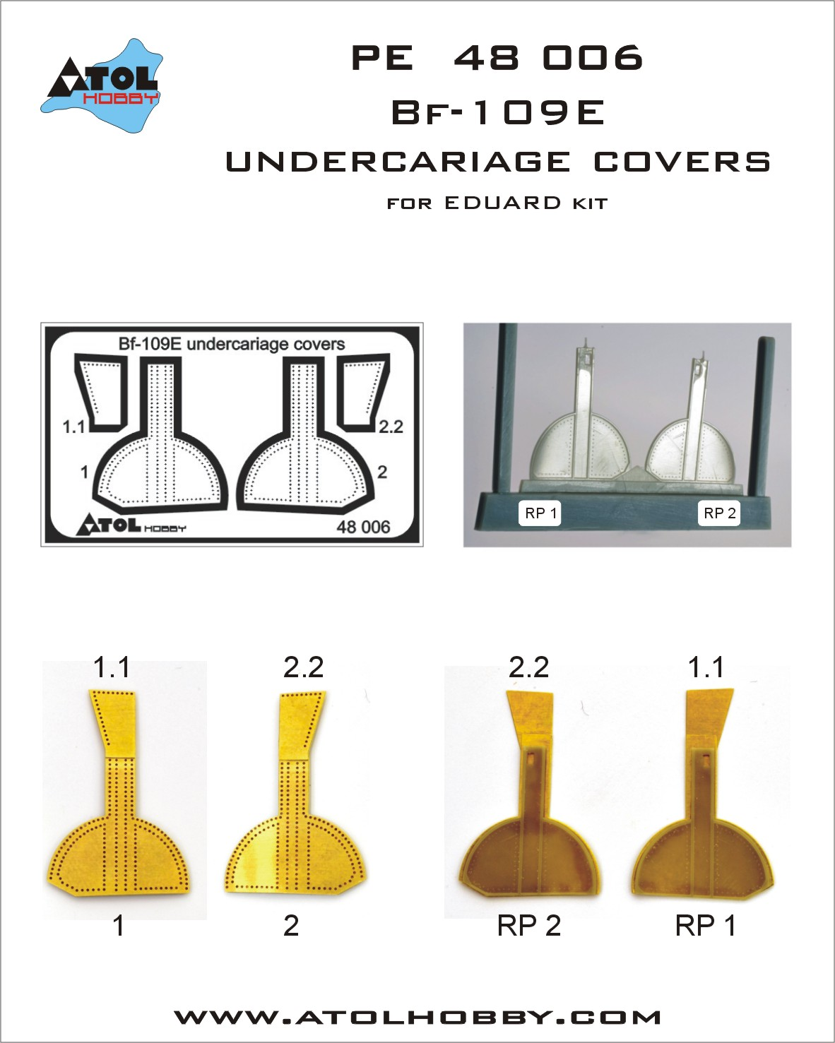 48 006 Bf-109E undercariage covers.jpg