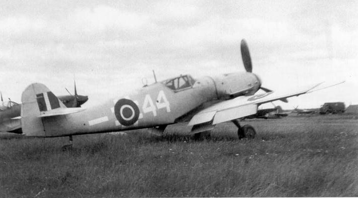 Me-109G10-Erla-4.NJG11-(W44+-)-in-RAF-markings-Fassberg-Celle-Saxony-Germany-1945-01.jpg