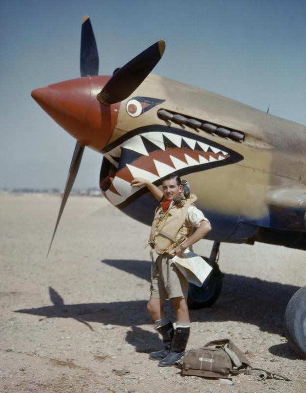 Flight_Lieutenant_A_R_Costello_of_No._112_Squadron_standing_by_his_Curtiss_Kittyhawk_Mk_I_at_Sidi_Heneish,_Egypt,_April_1942._COL196.jpg