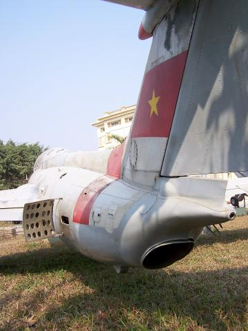 L29 Delfin tail Airforce Museum Hanoi.JPG
