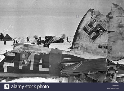 a-german-airfield-after-a-soviet-attack-B9PN0C.jpg