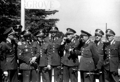 Slovak pilots at Grove airbase in Denmark. Where they received extensive schooling on how to fly German Messerschmitt aircraft..jpg