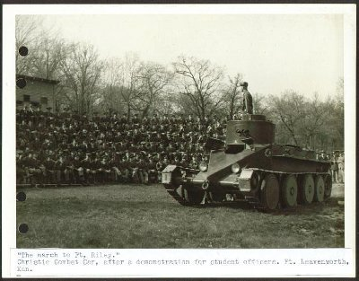 Christie Combat Car demo Ft Leavenworth KS 6x8 1934.jpg