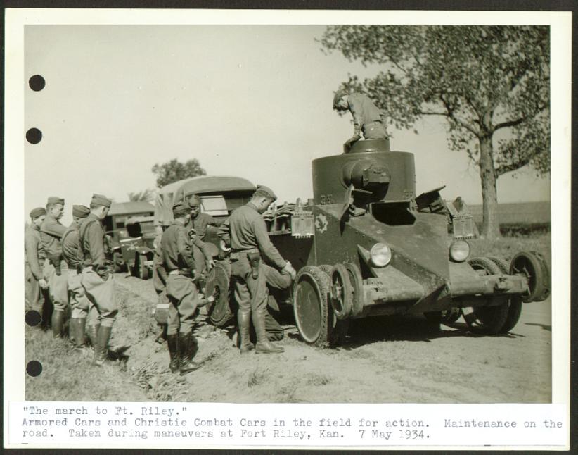 Christie Combat Cars road repair Ft Riley 6x8 1934.jpg
