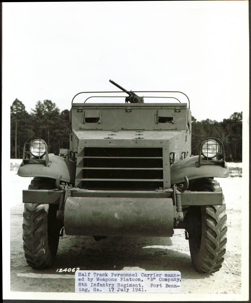 8th Inf Half-track Personnel Carrier Ft Benning GA 1941.jpg