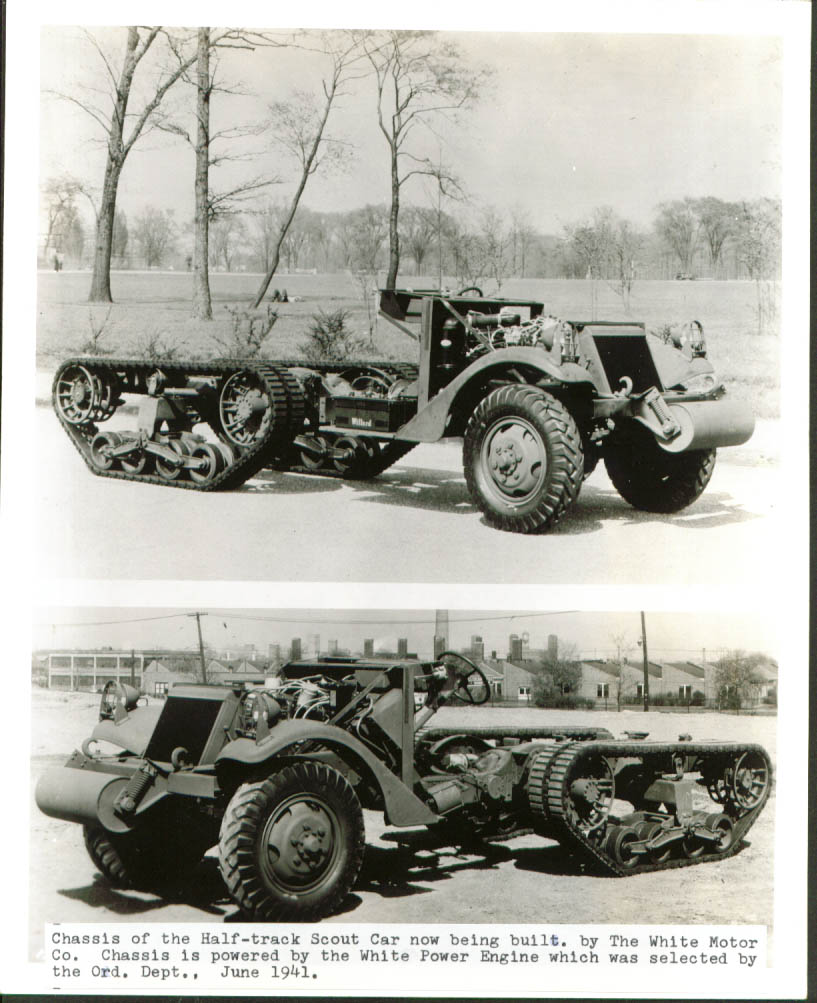 Half-track Chassis White Motor Co Scout Car 8x10 1941.jpg