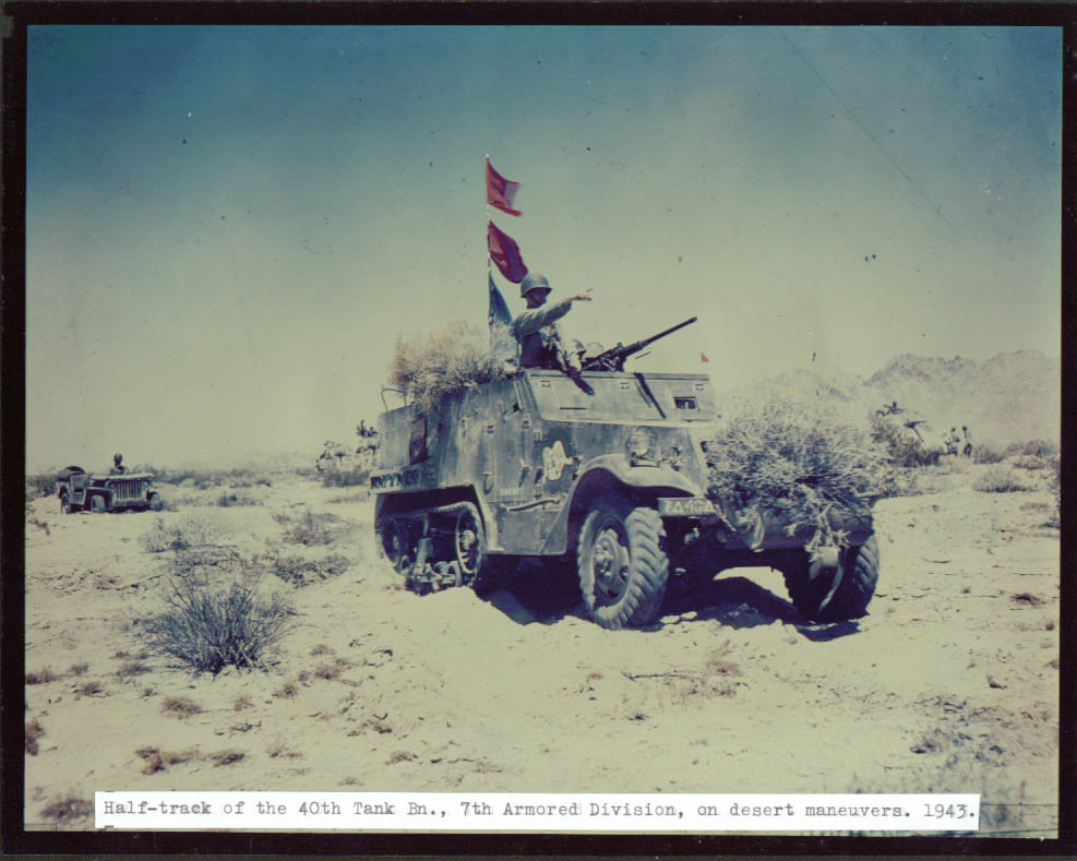 40th Tank Bn 7th Armored desert action color 8x10 1943.jpg