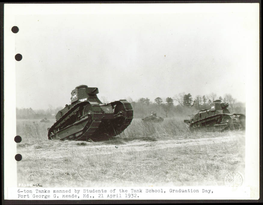 6-ton Baby Tanks Ft Meade Graduation Day demo 6x8 1932.jpg