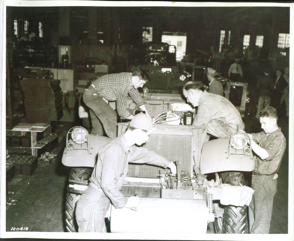 Half-track Car on White Motor assembly line 8x10 1941.jpg