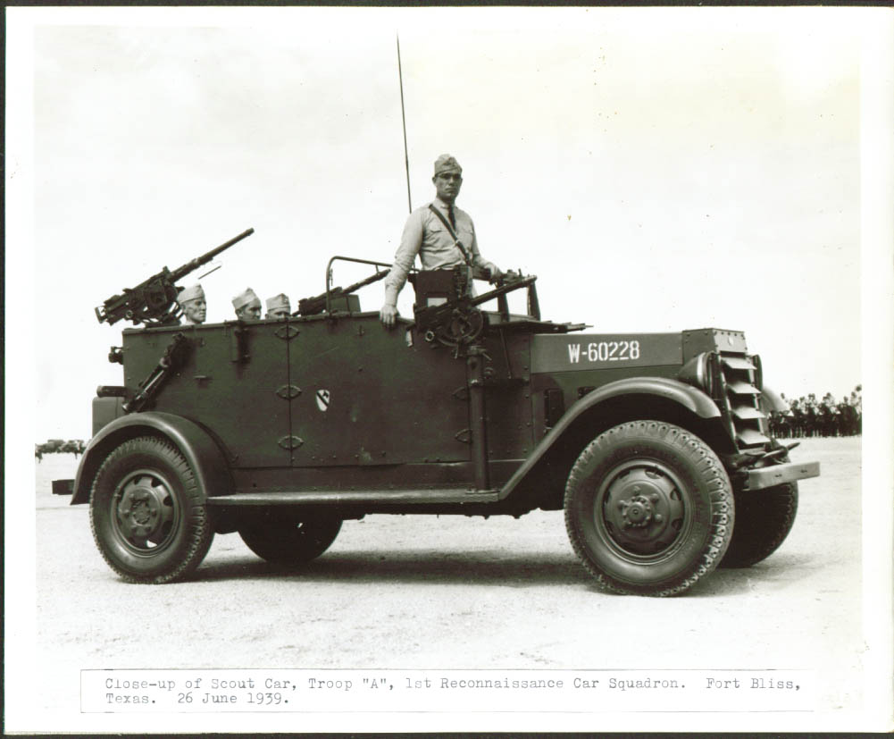 1st Recon Scout Car Troop A Fort Bliss 8x10 1939.jpg