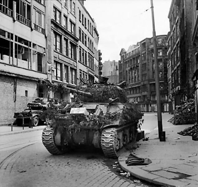 Sherman Firefly of 7th Armoured Division in Hamburg, 4 May 1945.jpg