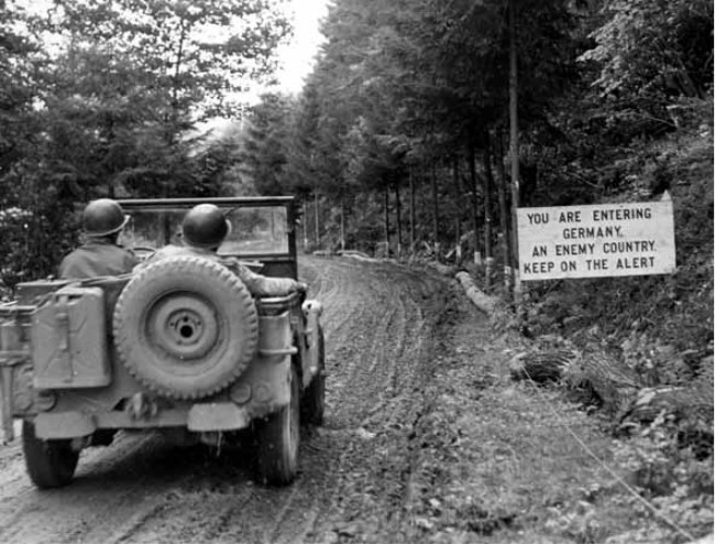 US Army Jeep entering in Germany, WWII..jpg