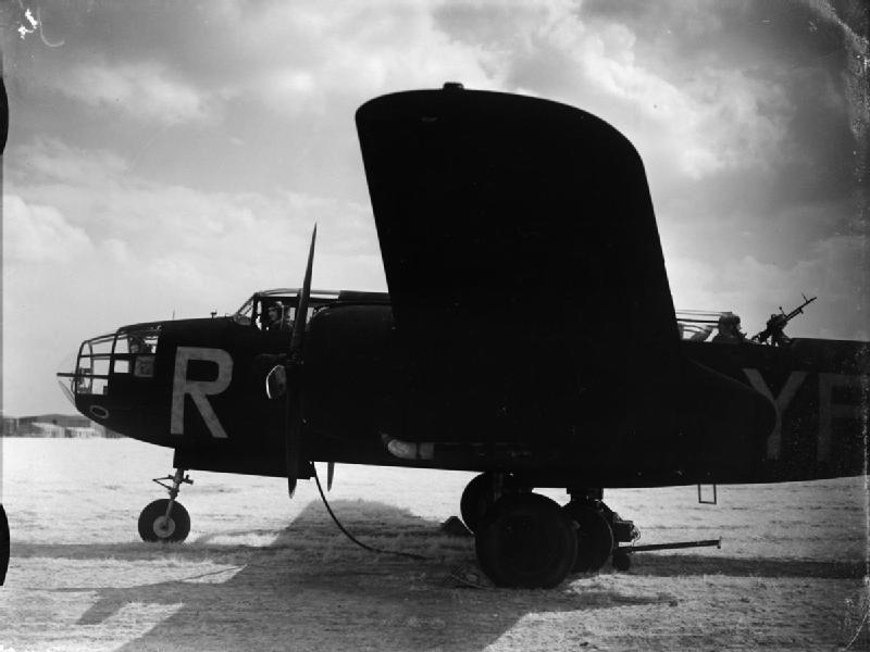 An infra-red photograph of a Douglas Havoc Mark I (Intruder) of No. 23 Squadron RAF, preparing to start up for a sortie at Ford, Sussex..jpg