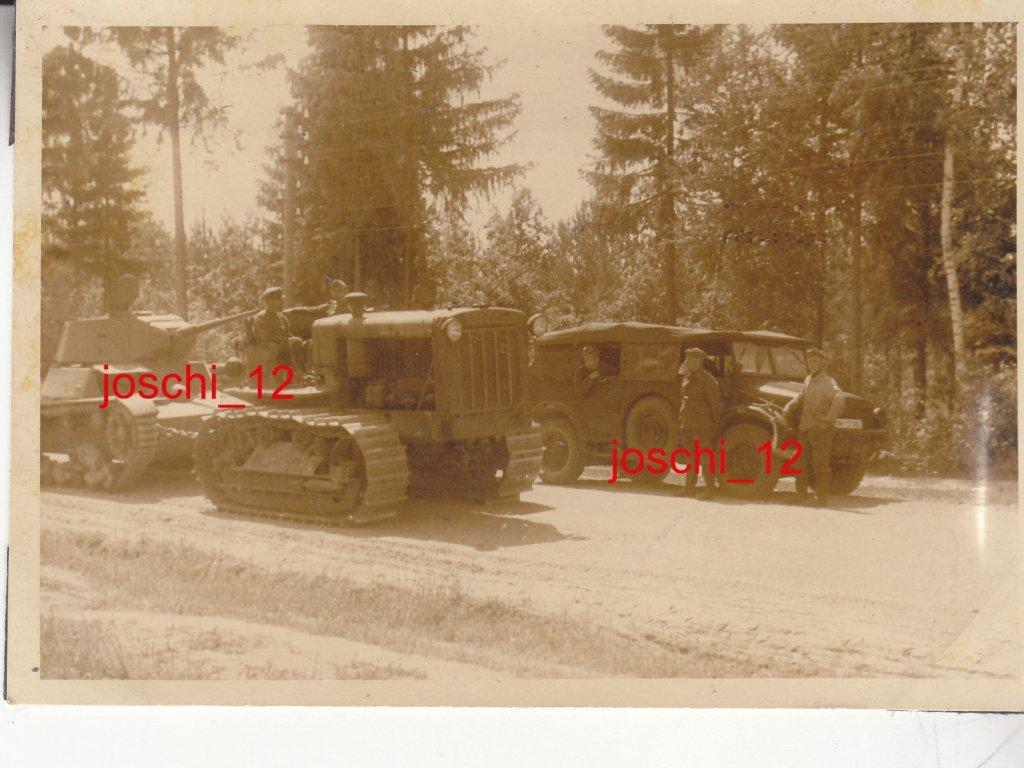 S-65 captured tractor towing a T-26 tank ,.jpg