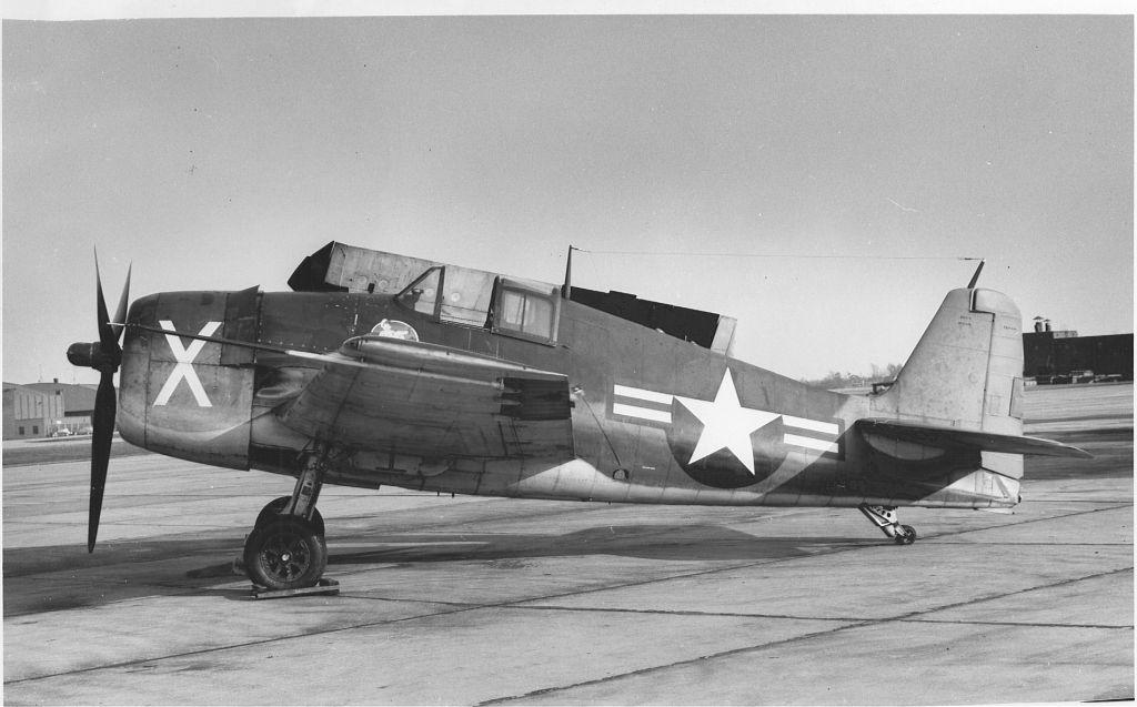 F6F-3N Hellcat of NATC shown on the ground at NAS Quonset Point.jpg
