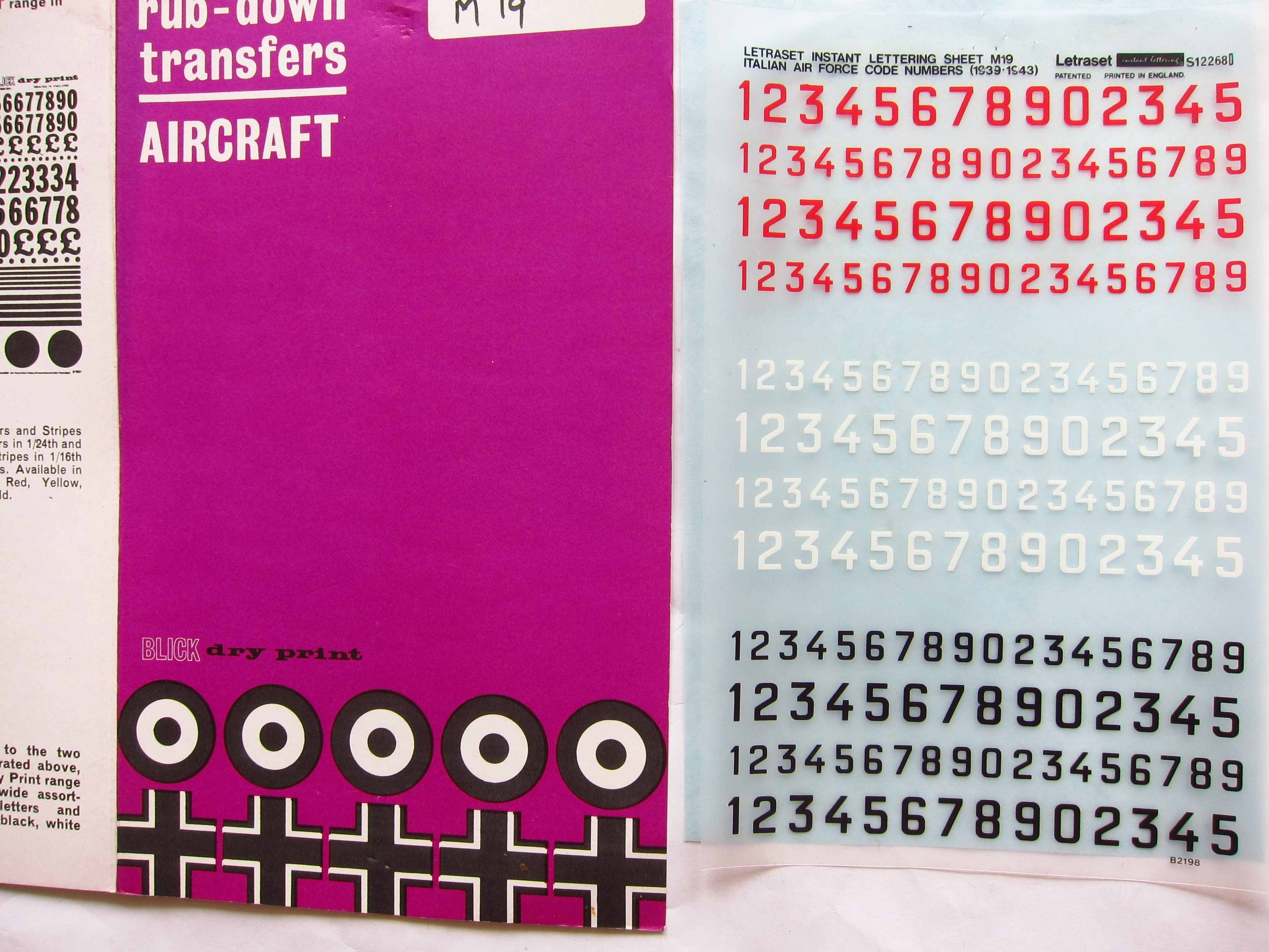 Letraset Italian air force numbers.JPG